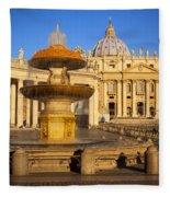 Vatican Morning Fleece Blanket