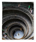 Vatican Spiral Staircase Fleece Blanket