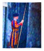 Vatican Swiss Guard Fleece Blanket