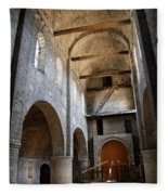 Vaulted Roof St Philibert - Tournus Fleece Blanket