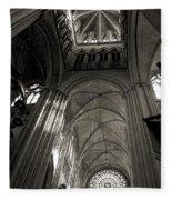 Vaults Of Rouen Cathedral Fleece Blanket