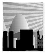 vector Rio de Janeiro skyline Fleece Blanket