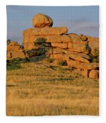 Vedauwoo Rocks Sunset Wyoming Fleece Blanket