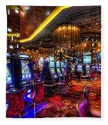 Vegas Slot Machines Fleece Blanket