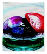 Vegetables And Gemstones Fleece Blanket