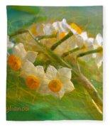 Veil On  Narcissus Fleece Blanket