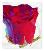 Velvet Rose Bud 2 Fleece Blanket