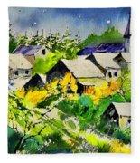 Vencimont Watercolor  Fleece Blanket