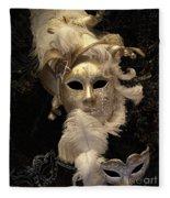 Venetian Face Mask B Fleece Blanket