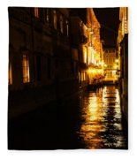 Venetian Golden Glow Fleece Blanket