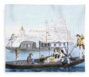 Venetian Gondola, From Vedute Dei Fleece Blanket