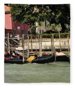 Venetian Gondolas Fleece Blanket