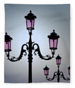 Venetian Lamps Fleece Blanket