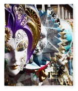 Venetian Masks 1 Fleece Blanket