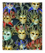 Venetian Opera Masks Fleece Blanket