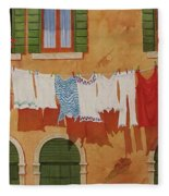 Venetian Washday Fleece Blanket