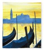 Venezia Venice Italy Fleece Blanket
