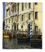 Venice Boats Fleece Blanket