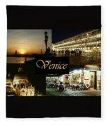 Venice By Night Fleece Blanket
