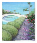 Venice California Canals Fleece Blanket