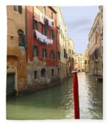 Venice Canal 3 Fleece Blanket
