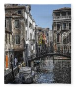 Venice Canal 5 Fleece Blanket