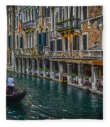 Venice Canal 7 Fleece Blanket