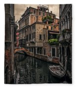 Venice Canal 8 Fleece Blanket