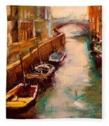 Venice Canal Fleece Blanket
