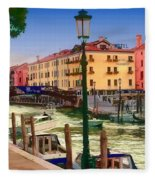 Venice Canal Fleece Blanket