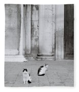 Cats Of Venice Fleece Blanket