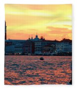 Venice Colors Fleece Blanket