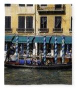 Venice Gondola Fleece Blanket