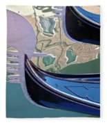 Venice Gondolas Fleece Blanket