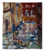 Venice Impression V Fleece Blanket