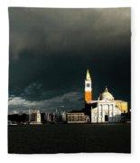 Venice Island Saint Giorgio Maggiore Fleece Blanket