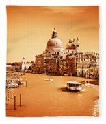 Venice Italy Grand Canal Fleece Blanket