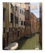 Venice Laundry Day Fleece Blanket