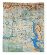 Venice: Map, 1546 Fleece Blanket