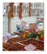 Venice Market Fleece Blanket