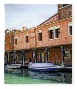 Venice Reflections - Italy Fleece Blanket