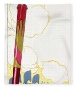 Venice Silouhette Fleece Blanket