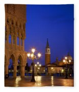 Venice Twilight Fleece Blanket