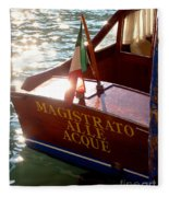 Venice Water Authority Boat Fleece Blanket