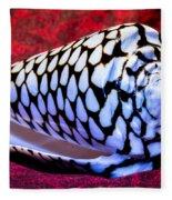 Venomous Conus Shell Fleece Blanket