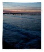 Ventura Pier Sunrise Fleece Blanket