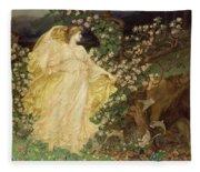 Venus And Anchises Fleece Blanket