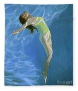 Venus Goes H2o  Fleece Blanket