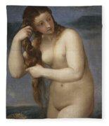 Venus Rising From The Sea Fleece Blanket