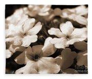 Verbena Named White Hail Fleece Blanket